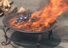 American Flag burning Ceremony 2012
